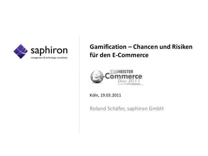 Gamification - Chancen und Risiken für den E-Commerce