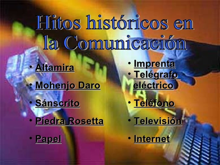 <ul><li>Imprenta </li></ul><ul><li>Telégrafo  </li></ul><ul><li>eléctrico </li></ul><ul><li>Teléfono </li></ul><ul><li>Tel...