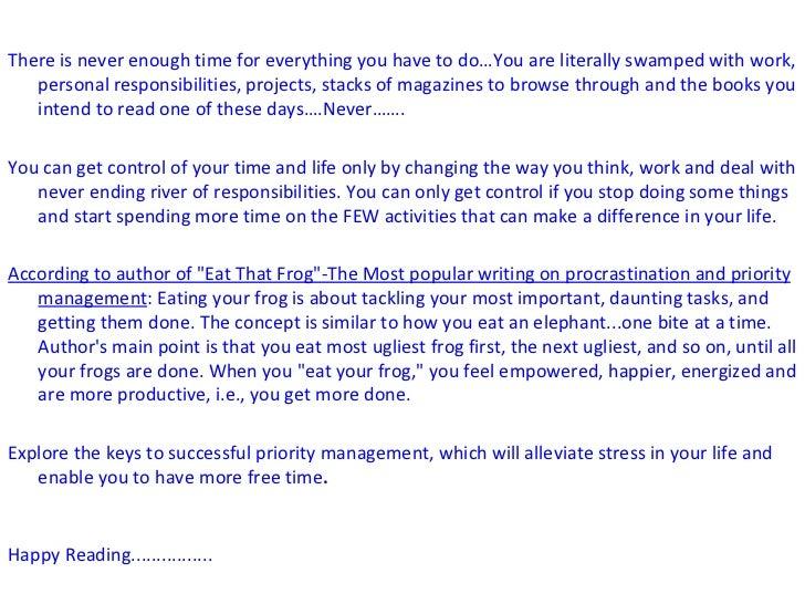 Hit the hardest- procrastination & priority managment