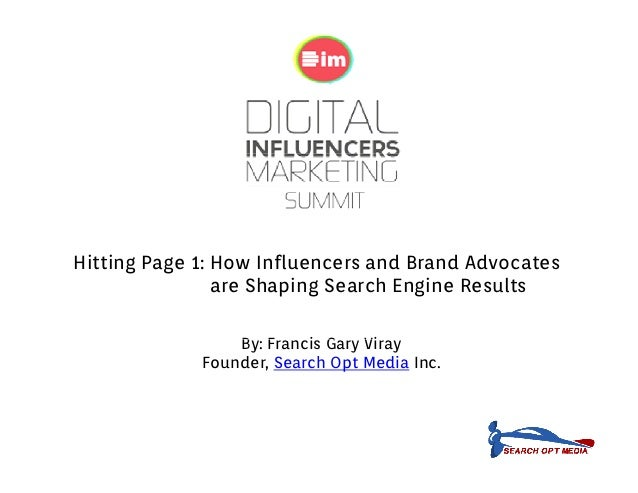 Hitting Page 1: How Influencers and Brand Advocates                are Shaping Search Engine Results                     h...