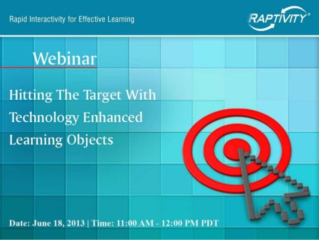 Hitting the Target with Technology Enhanced Learning Objects