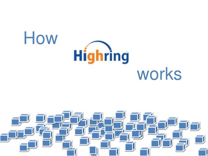How Highring works.