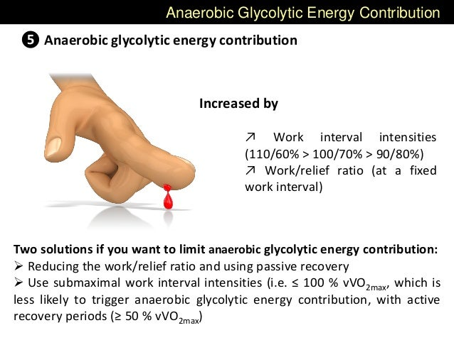 Anaerobic Glycolytic Energy Contribution ❺ Anaerobic glycolytic energy contribution Increased by ↗ Work interval intensiti...