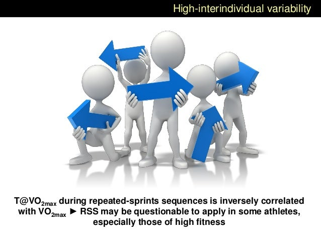 High-interindividual variability T@VO2max during repeated-sprints sequences is inversely correlated with VO2max ► RSS may ...