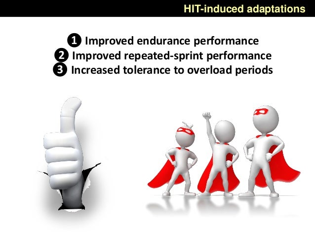 ❶ Improved endurance performance ❷ Improved repeated-sprint performance ❸ Increased tolerance to overload periods HIT-indu...
