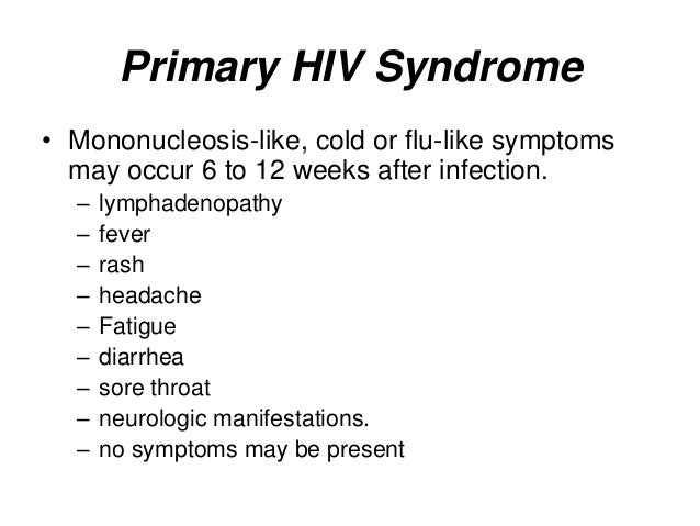 Hiv Symptoms In Men After 1 Year