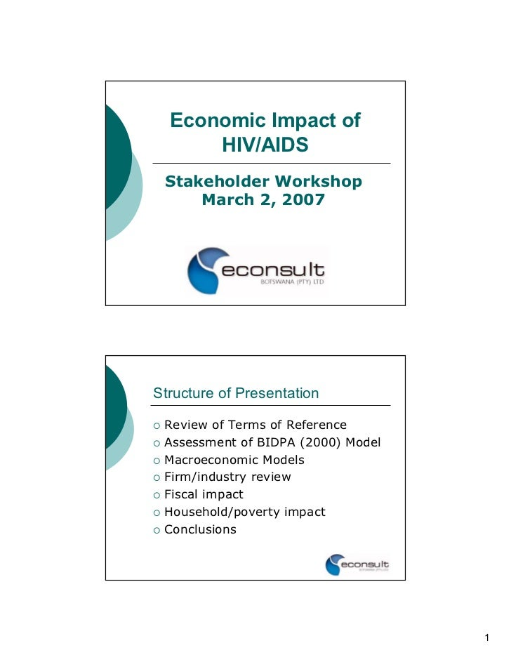 Economic Impact of      HIV/AIDS Stakeholder Workshop     March 2, 2007Structure of Presentation Review of Terms of Refere...