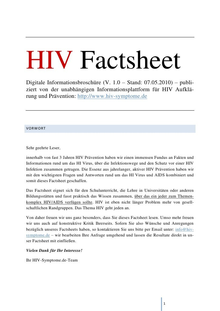 Hiv Factsheet - das HIV Ebook