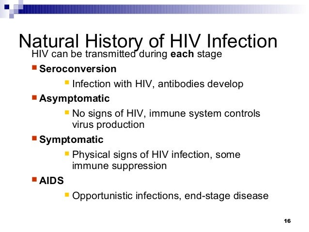 The natural history of HIV infection