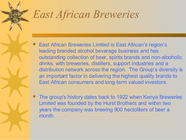 east african breweries analysis of The south african breweries limited fundamental company report including financial, swot, competitors and industry analysis: enhanced swot analysis (+ us$ 7500.