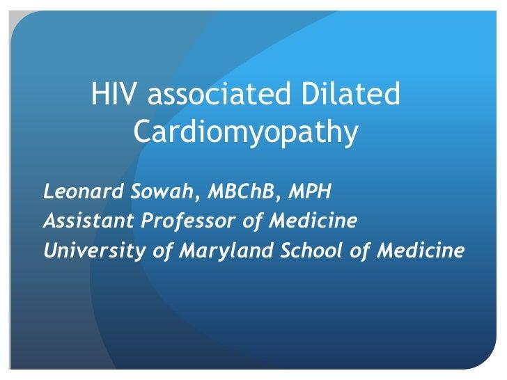 HIV associated cardiomyopathy