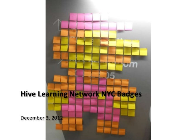 Hive Learning Network NYC BadgesDecember 3, 2012
