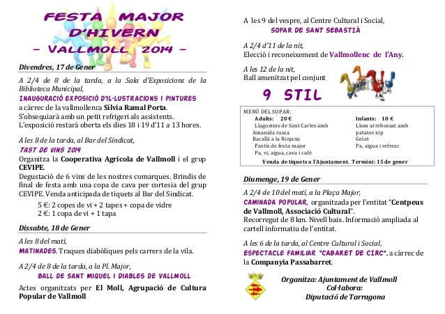 Hivern 2014   programa festa major