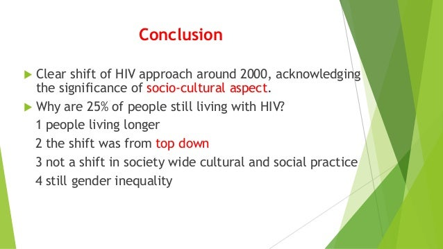 Conclusion to a HIV/AIDS research paper...?
