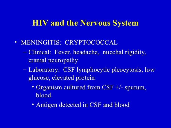 Cryptococcal meningitis hiv negative dating 7