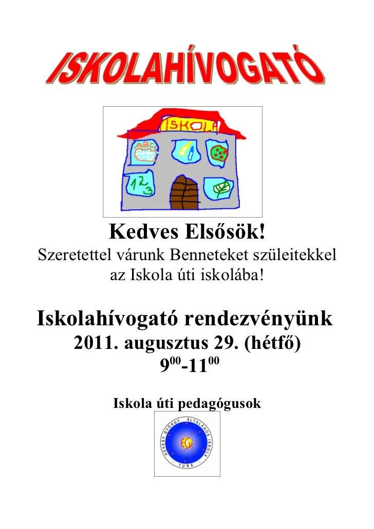 Hivogató 2011. 1.évfolyamnak