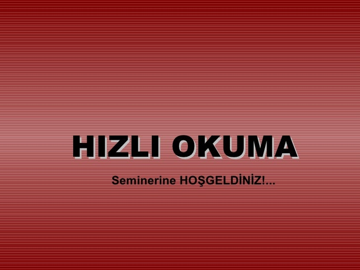 Hizli+okuma