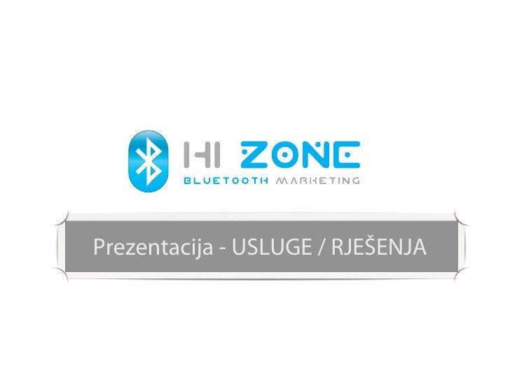 Prezentacija - USLUGE / RJEŠENJA