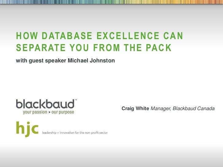 Hjc bb seminar - blackbaud presentation vancouver draft one sept 6 2012