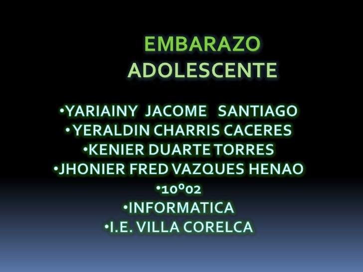 EMBARAZO EN ADOLSCENTES
