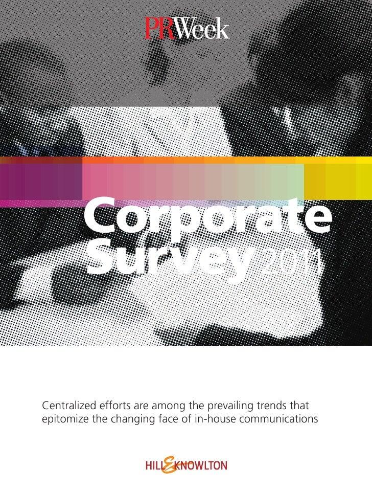 H&K/PRWeek Corporate Survey 2011
