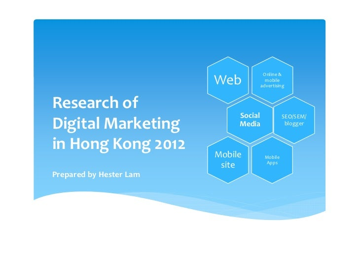 Online &                         Web             mobile                                       advertisingResearch of      ...