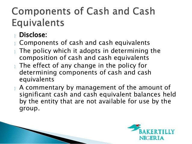 Calculating cash and cash equivalents?