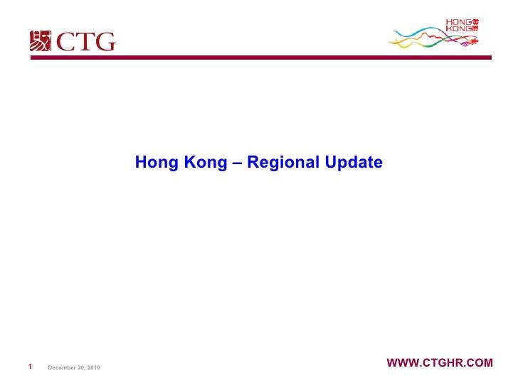 Hong Kong – Regional Update
