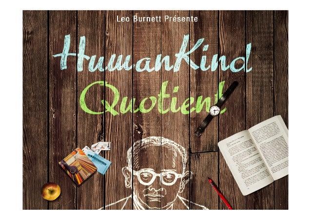 HumanKind Quotient by Leo Burnett