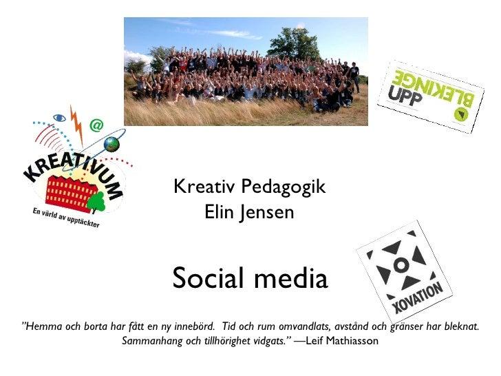 Skolan och social media