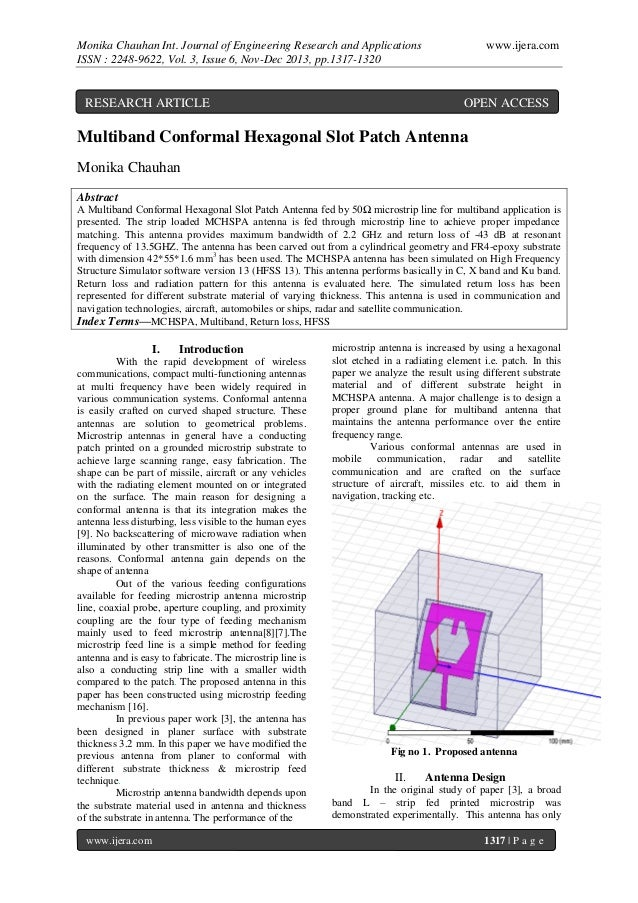 Monika Chauhan Int. Journal of Engineering Research and Applications ISSN : 2248-9622, Vol. 3, Issue 6, Nov-Dec 2013, pp.1...