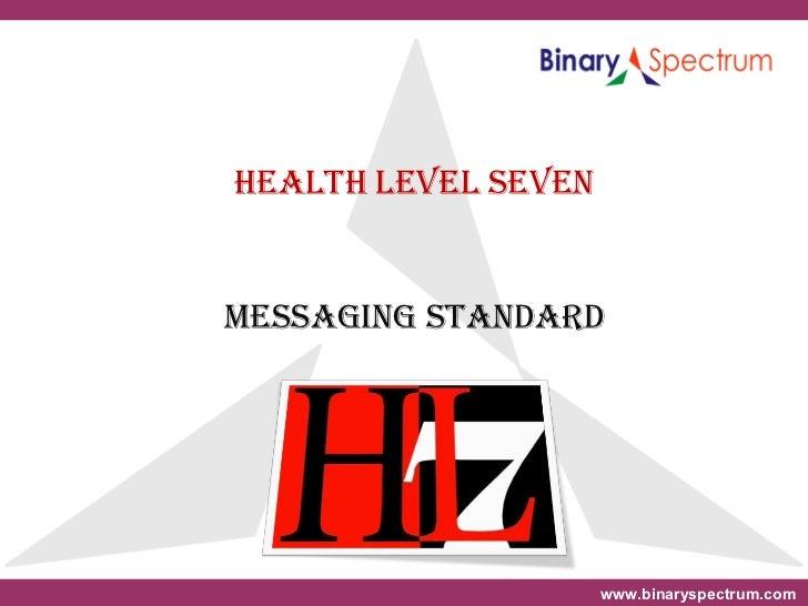 Hl7 Message Standard