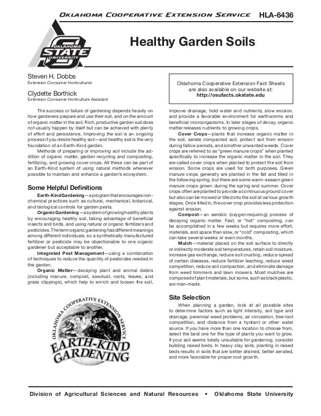Oklahoma Cooperative Extension Service                                                          HLA-6436                  ...