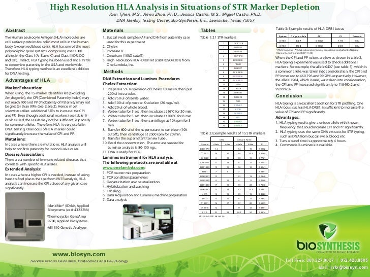 High Resolution HLA Analysis in Situations of STR Marker Depletion                                                        ...