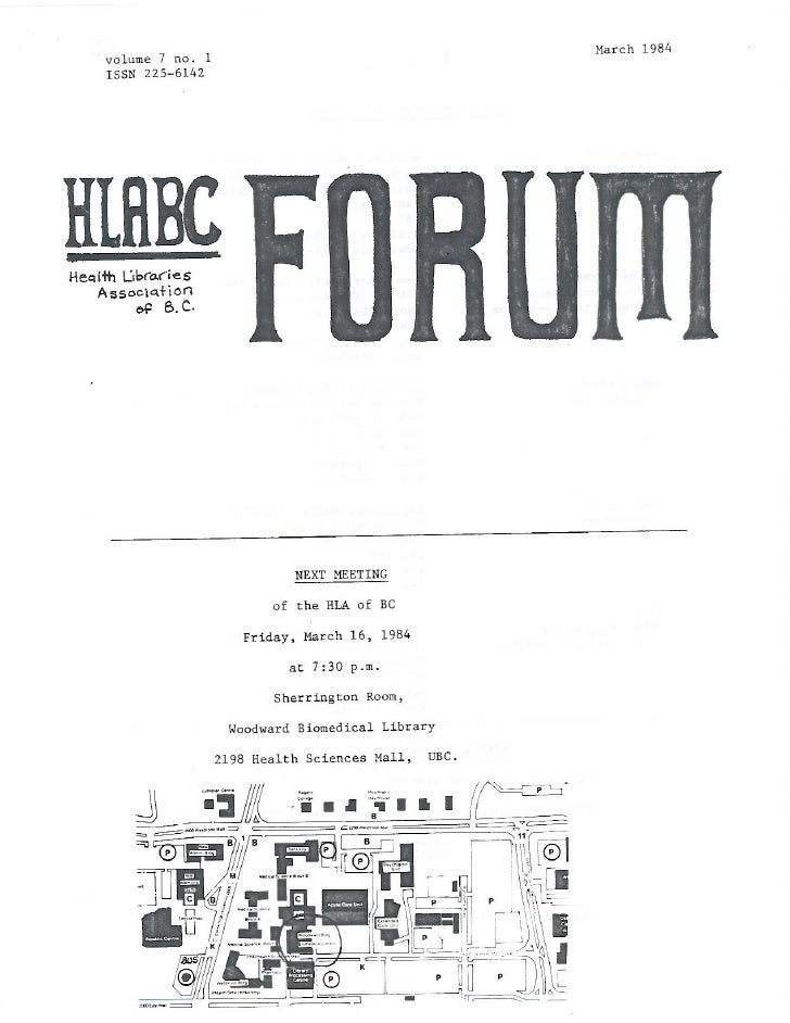HLABC Forum: March 1984