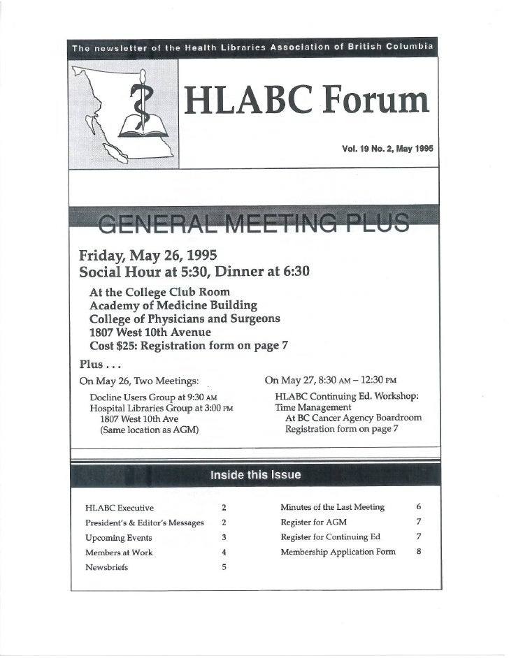 HLABC Forum: May 1995