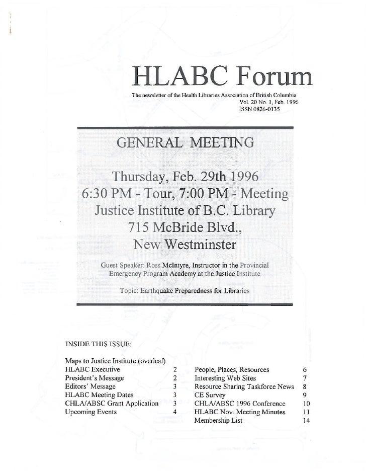 HLABC Forum: February 1996