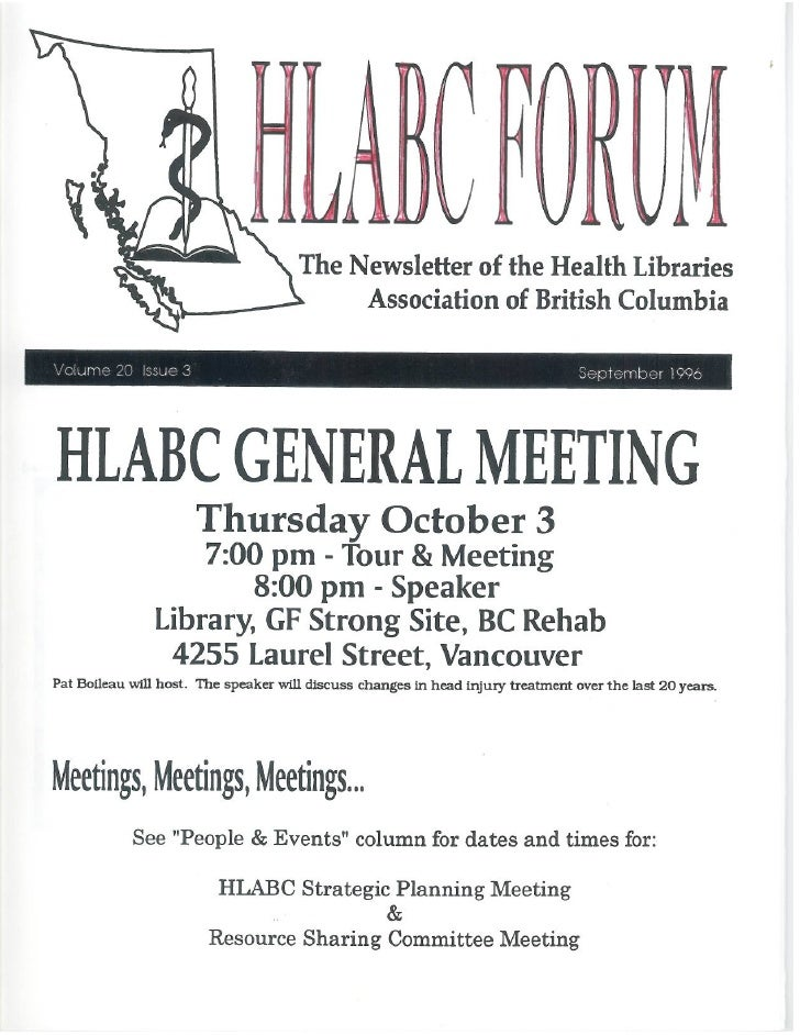 HLABC Forum: September 1996