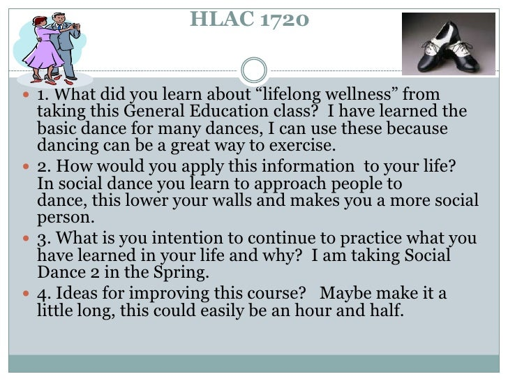 """HLAC 1720<br />1.What did you learn about """"lifelong wellness"""" from taking this General Education class?  I have learned t..."""