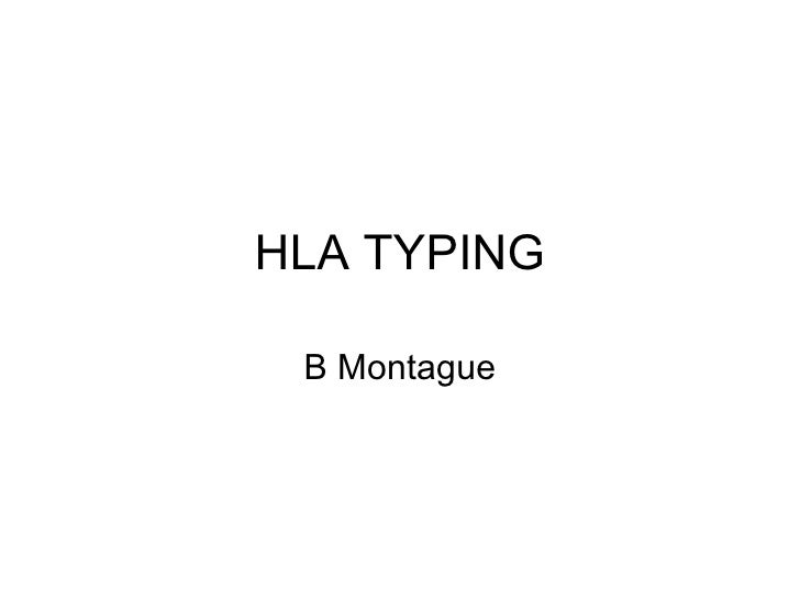 HLA TYPING B Montague