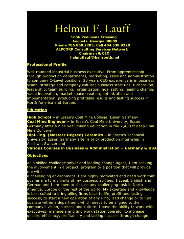 H Lauff Resume, Work Ability Alpcorp Services