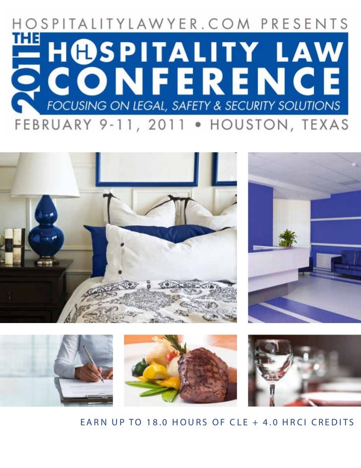 2011 Hospitality Law Conference by HospitalityLawyer.com :: Brochure