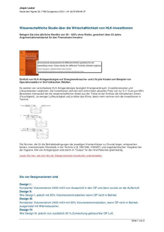 Jürgen LauberHaute des Vignes 32, 1796 Courgevaux (CH) I +41 (0)79 509 94 27Seite 1 von 3Wissenschaftliche Studie über die...