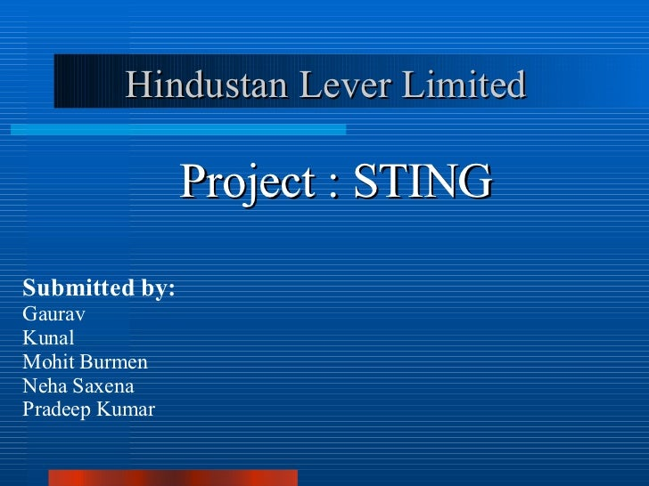 Hll Sting Project