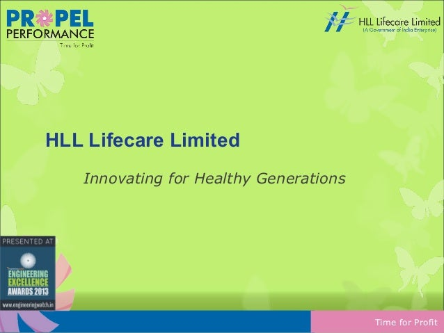 HLL Lifecare Limited Innovating for Healthy Generations  Time for Profit
