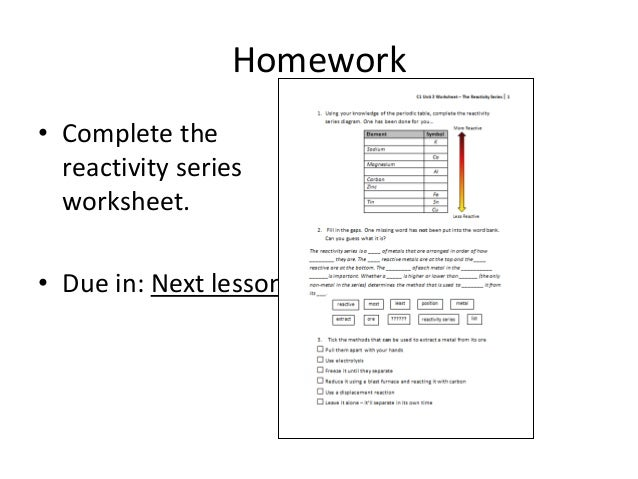 Activity Series Worksheet - Secretlinkbuilding