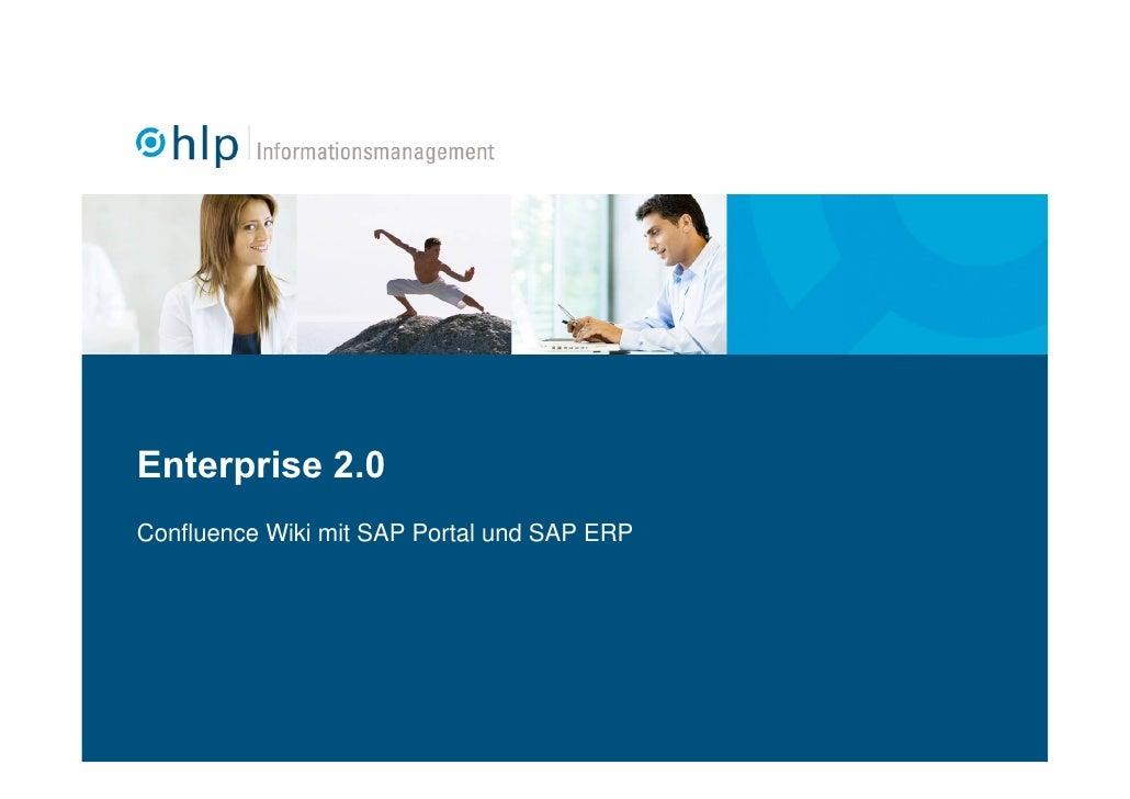 Enterprise 2.0 Confluence Wiki mit SAP Portal und SAP ERP