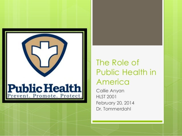 PowerPoint Regarding Public Health