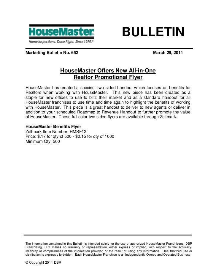 BULLETINMarketing Bulletin No. 652                                                              March 29, 2011            ...
