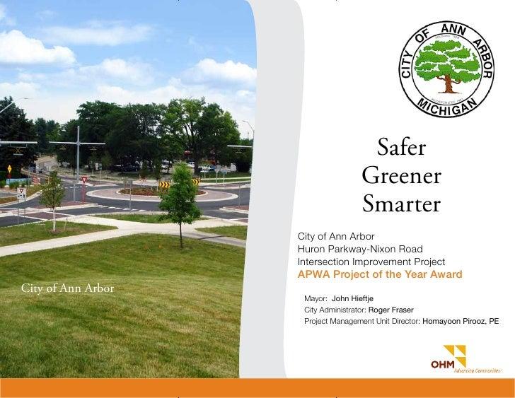 APWA Award Winning Roundabout in Ann Arbor